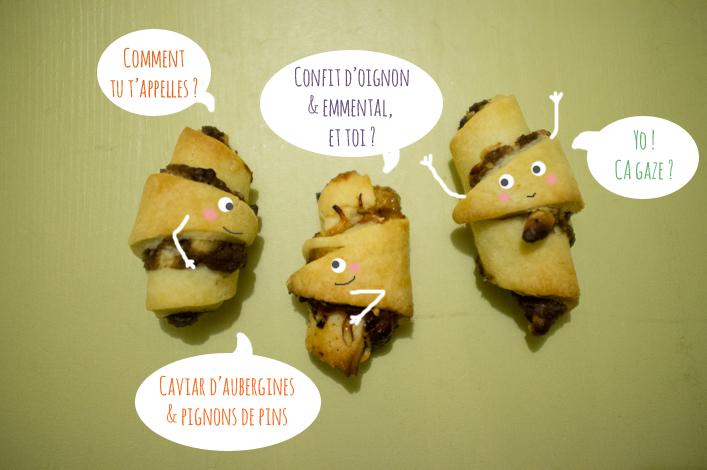 Mini croissants montage