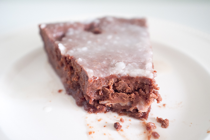 Gâteau au chocolat et litchi 2