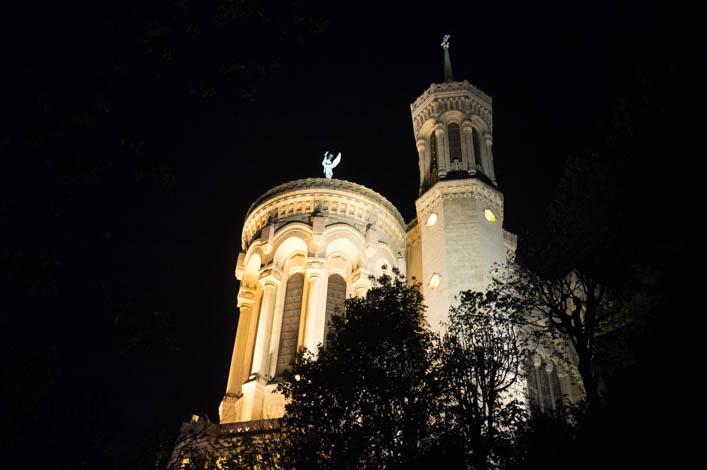 Basilique de Fourvière Lyon nuit - la Godiche-2