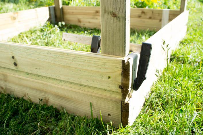 godiche !-diy ~ fabriquer un potager carré en bois - godiche !