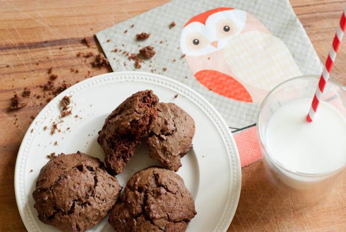 Cookies au chocolat et café sur la Godiche