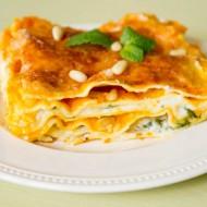 Lasagne au potiron, menthe, parmesan et pignons de pin sur la godiche