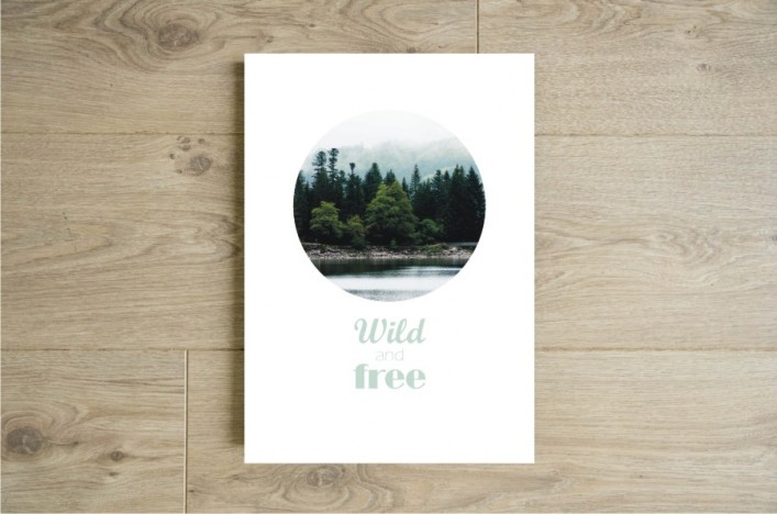 Affiche wild and free boutique etsy godiche