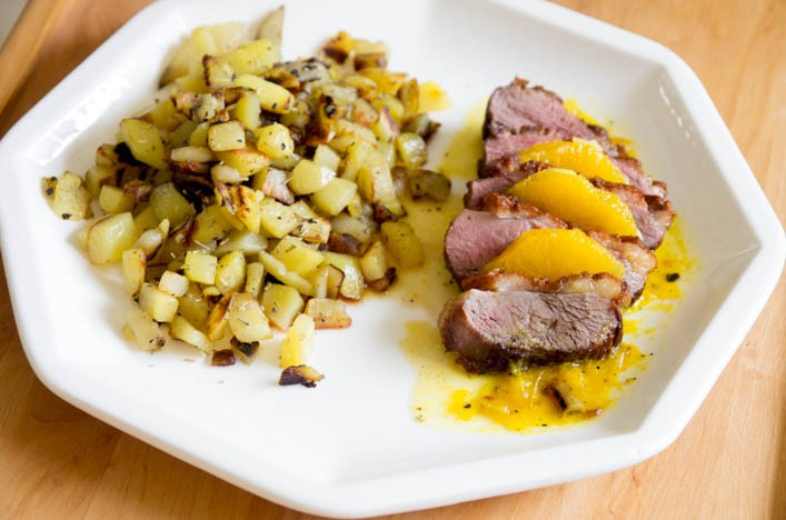 Godiche magret de canard l 39 orange et pommes de terre - Comment cuisiner un magret de canard a la poele ...