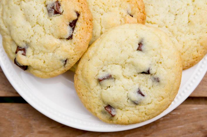 cookie aux pépites de chocolat américain parfait sur la Godiche