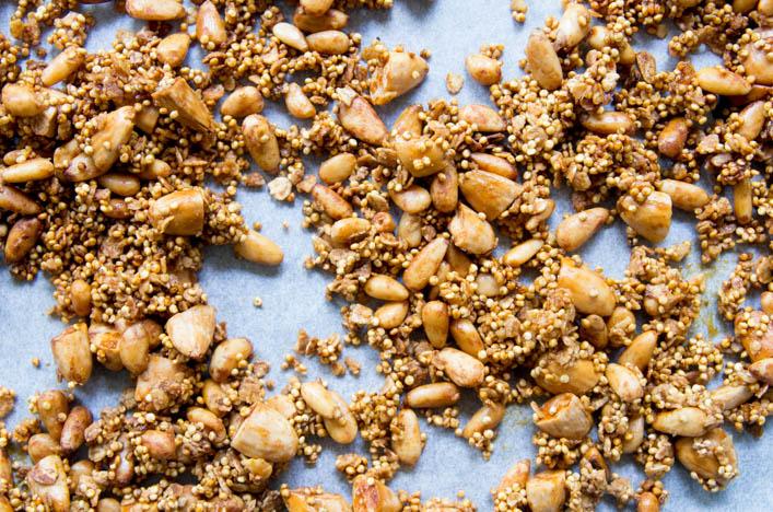 Recette de quinola, granola croustillant au quinoa sur la Godiche