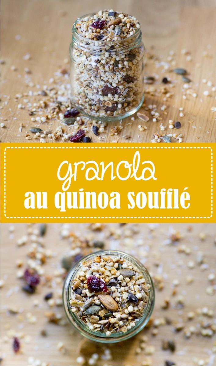 Recette de granola au quinoa soufflé sur la Godiche
