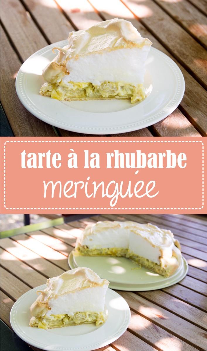 Recette de tarte à la rhubarbe meringuée sur la Godiche