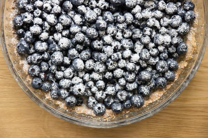 Recette tarte aux myrtilles fraîches toute simple et facile sur la godiche