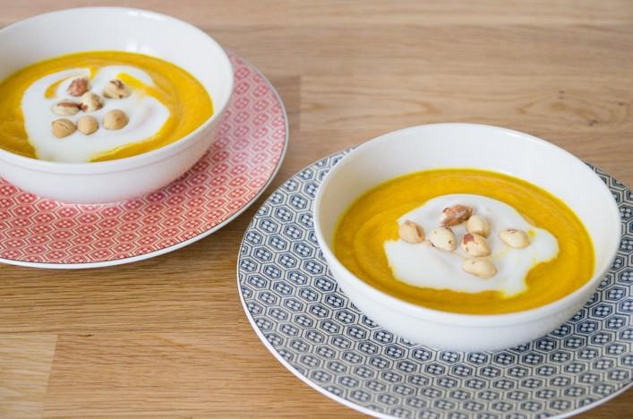 Soupe de carottes au lait de coco et cumin, recette sur la Godiche