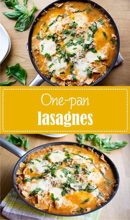 Recette de one pan lasagnes