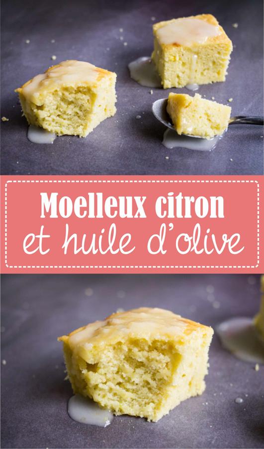Moelleux à l'huile d'olive et au citron, recette sur la godiche