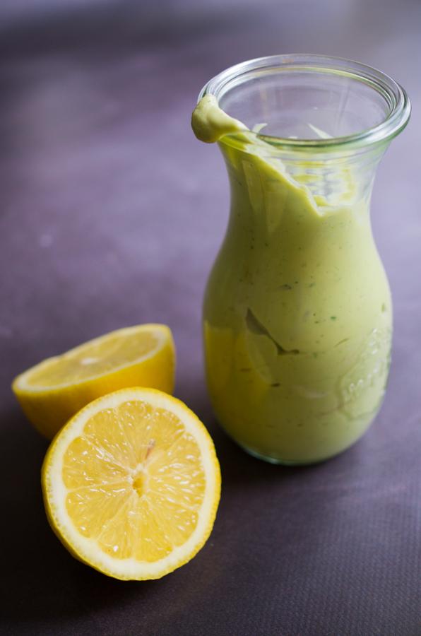 Vinaigrette crémeuse à l'avocat et citron, recette sur la Godiche