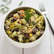Salade de quinoa avocat haricots rouges aneth recette de salade gourmande sur la Godiche