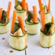 Sushis crus végétariens courgette, crudités et chèvre, recette gourmande et healthy sur la Godiche / www.lagodiche.fr