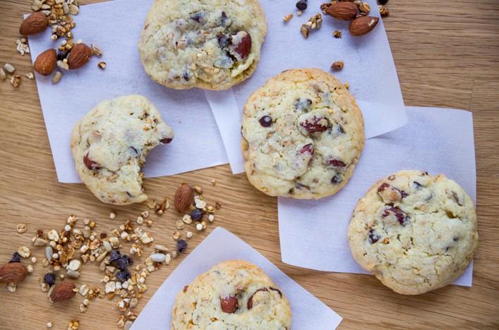 Cookies au granola et pépites de chocolat sur la Godiche