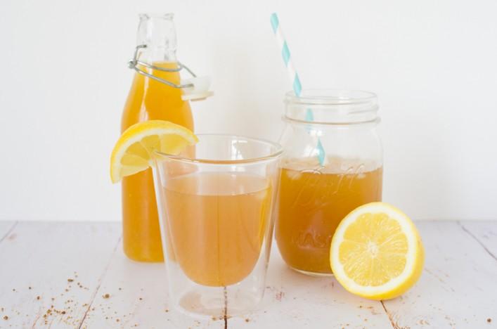 Limonade libanaise au citron et fleur d'oranger boisson rafraichissante pour l'été