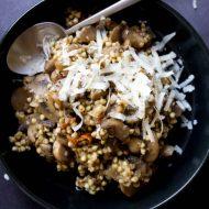 Risotto de sarrasin aux champignons - recette sans gluten risotto vegan - sur la Godiche www.lagodiche.fr