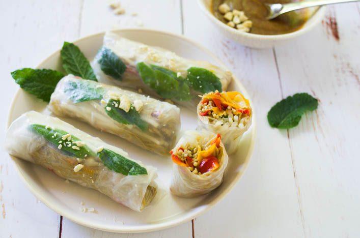 Rouleaux de printemps pad thaï, recette estivale et gourmande sur la Godiche / www.lagodiche.fr